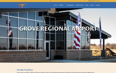 New website for Grove Regional Airport